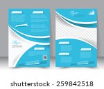 flyer template. business... | Shutterstock .eps vector #259842518