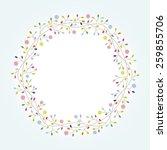 flowers frame | Shutterstock .eps vector #259855706