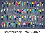 multiethnic casual people... | Shutterstock . vector #259863875