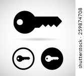 key icon. vector eps 10. | Shutterstock .eps vector #259874708