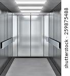 modern elevator with opened door   Shutterstock . vector #259875488