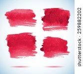 brushstroke banners.  ink red... | Shutterstock .eps vector #259882202