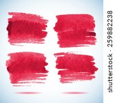 brushstroke banners.  ink red... | Shutterstock .eps vector #259882238
