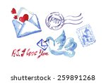 post and delivery   Shutterstock .eps vector #259891268