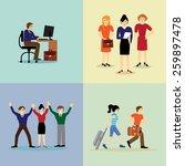 global business team. vector... | Shutterstock .eps vector #259897478