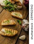 garlic toast toasted panini... | Shutterstock . vector #259902542