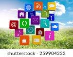 apps against sunny landscape | Shutterstock . vector #259904222