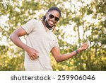 Handsome Hipster In The Park O...