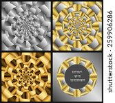 a set of metal backgrounds with ... | Shutterstock .eps vector #259906286