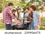 happy friends in the park... | Shutterstock . vector #259906475