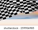 checkered flag against serene... | Shutterstock . vector #259906985