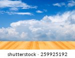 blue sky backgrounds and wood... | Shutterstock . vector #259925192