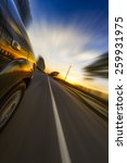 car on the road wiht motion... | Shutterstock . vector #259931975
