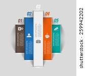 vertical stripes banner... | Shutterstock .eps vector #259942202