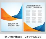 vector blue and orange business ... | Shutterstock .eps vector #259943198