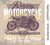 vintage motorcycle for printing.... | Shutterstock .eps vector #259951496