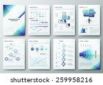 set of flyer  brochure design... | Shutterstock .eps vector #259958216