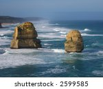 Twelve apostles (Australia,  Great Ocean Road) - stock photo