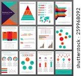 set of twelve pages of ... | Shutterstock .eps vector #259968092