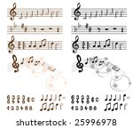 collection of musical design... | Shutterstock . vector #25996978