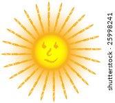 smiling grunge sun isolated on... | Shutterstock . vector #25998241
