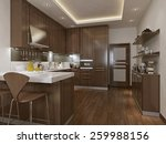 kitchen neoclassical style  3d... | Shutterstock . vector #259988156