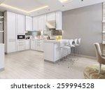 kitchen in modern style  3d... | Shutterstock . vector #259994528