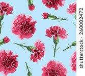 Seamless Pattern Carnations...
