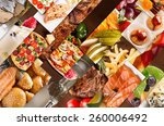 collage from different pictures ... | Shutterstock . vector #260006492