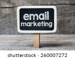email marketing on blackboard.... | Shutterstock . vector #260007272