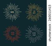 set of hand drawn sunburst... | Shutterstock .eps vector #260011415