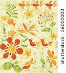 flower seamless background   Shutterstock .eps vector #26002003