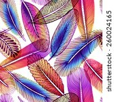 seamless pattern with abstract... | Shutterstock .eps vector #260024165