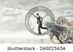 young businessman in suit... | Shutterstock . vector #260025656