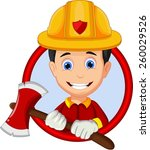 firefighters cartoon | Shutterstock .eps vector #260029526