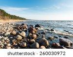 Shoreline Of Baltic Sea Beach...