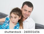 nice family of three   parents... | Shutterstock . vector #260031656