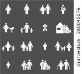 family icons set | Shutterstock .eps vector #260042276