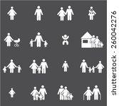 family icons set | Shutterstock .eps vector #260042276