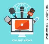 vector live report concept ... | Shutterstock .eps vector #260049488