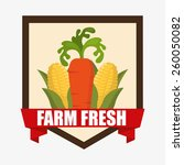 farm fresh design  vector... | Shutterstock .eps vector #260050082