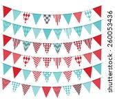 bunting banner set | Shutterstock .eps vector #260053436