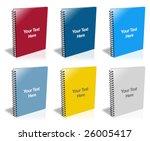 spiral notepad | Shutterstock . vector #26005417