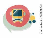 transportation bus flat icon... | Shutterstock .eps vector #260060645