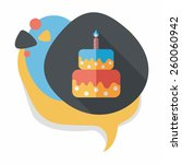 birthday cake flat icon with... | Shutterstock .eps vector #260060942