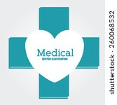 medical design  vector...   Shutterstock .eps vector #260068532
