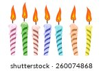 set of colorful birthday... | Shutterstock .eps vector #260074868