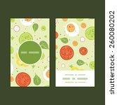 vector fresh salad vertical... | Shutterstock .eps vector #260080202
