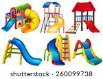 set of colourful slides on a... | Shutterstock .eps vector #260099738