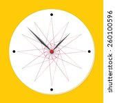 modern vector clock | Shutterstock .eps vector #260100596